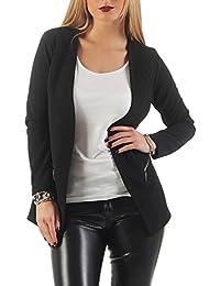 Damen lang Blazer elegant mit Reißverschluss ( 501 )