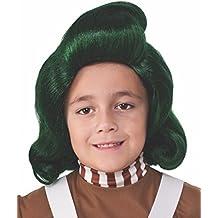 Rubies s oficial Willy Wonka y la fábrica de Chocolate Oompa Loompa peluca del niño disfraz