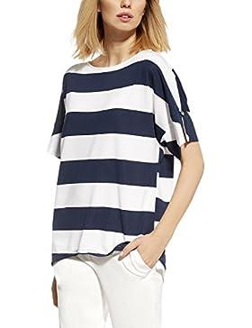 Ennywear 230114 Blusa Tipo Kimono Estilo Marinoero Para Mujeres Manga Corta Y Escote Redondo - Hecho En La UE