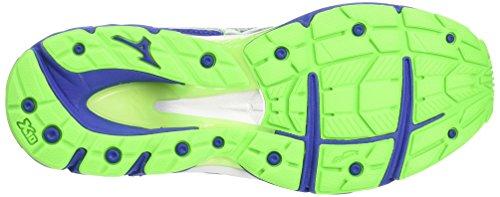 Mizuno Wave Creation 18 (W), Chaussures de Running Entrainement Homme Bleu (Surf The Web/silver/green Gecko)