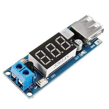 ARCELI Convertitore di tensione costante buck DC-DC 4.5V-40V a 5V 2A Voltmetro di uscita USB Modulo step-down per DIY Scheda di carica USB, voltmetro, convertitore di tensione