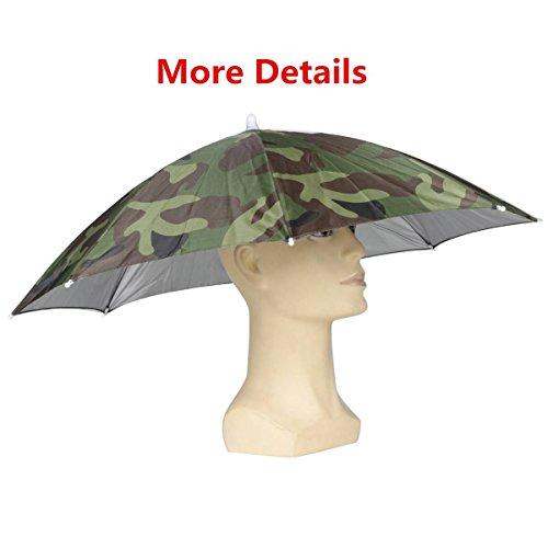ELEGIANT Faltbare Sonnenschirm Regenschirm Hut Regenhut Sonnenhut für Outodoor Sport Golf Angeln Camping Mütze Kopfbedeckung - 3