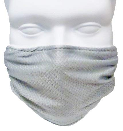 Breathe Healthy Honeycomb Face Mask-Protect your Immune System from Allergns, Pollen, Dust, Mold Spores, Cold & Flu with Antimicrobial Shield - Silver by Breathe Healthy Masks Personal Shield