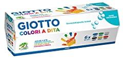 Idea Regalo - Giotto 534100 - 6 Barattoli 100 ml Tempera a Dita
