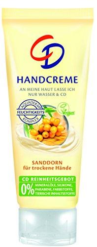 CD Handcreme Sanddorn 75 ml/Handcreme für trockene Haut im 6er Vorratspack (6 x 75 ml)/VEGAN