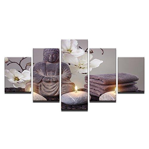 �lgemälde Wandkunst Print Bild, Religiöse Buddha Bild Hintergrund für Wohnzimmer oder Büro Definition Moderne Dekoration,4 ()