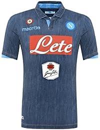Macron – Camiseta de fútbol Teamtrikot Away Race Fútbol S.S. Napoli Denim Jeans Neapel 2014 2015
