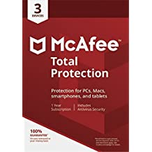 McAfee Total Protection 2018 3 Devices 1 Year PC/Mac/Android Download