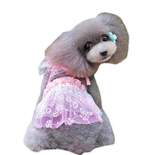 e Sweet Pet Puppy Dog Apparel Kleidung Kurzer Rock Kleid Casual Medium Rose ()