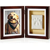 Pearhead Dog or Cat Paw Print Keepsake Photo Frame With Pet Pawprint Imprint Kit