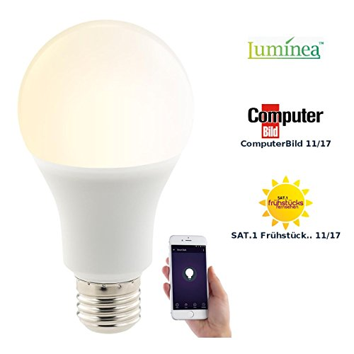 Luminea Home Control WiFi Lampe: WLAN-LED-Lampe, komp. zu Amazon Alexa & Google Assistant, E27, CCT (WLAN Glühbirnen)