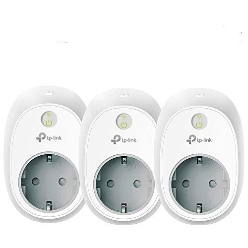 TP-Link HS100P3 Presa Wi-Fi, Smart Plug Compatibile con Alexa e Google Home, Controllo dei Dispositivi Ovunque Mediante Kasa App, Pacchetto da 3 (presa schuko)