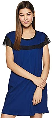 GiglyMigly Women's Cotton Solid Above Knee Nightd