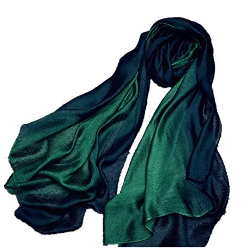 HNLYYL Sciarpa Quattro Stagioni Calda E Calda In Cotone E Lino Sciarpa Lunga Sezione In Seta Gradazione Di Colore Scialle Sciarpa Femminile A Doppio Uso