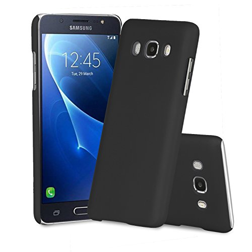 Parallel Universe Samsung Galaxy J5 (2016) Back Cover Case Premium Smooth Rubberised Matte Finish Hard PC backcover- Black