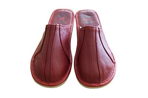 Slippers Natleat Womens Slippers 33 Mules-Zapatillas de estar por casa en Cuir Noir pour femme Noir Cherry / 2