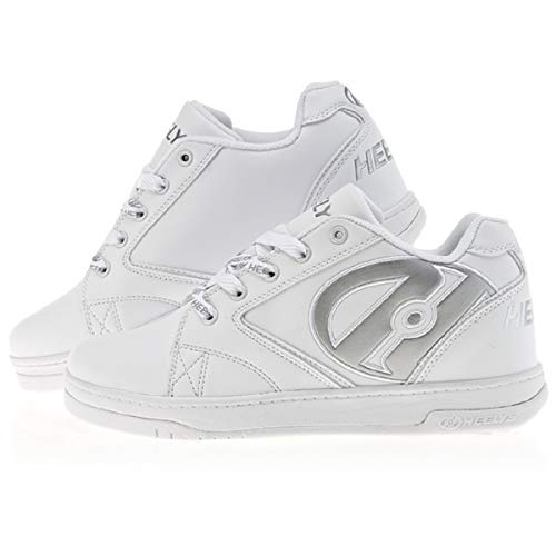 Heelys Propel Boys Trainer Shoes White, White Silver
