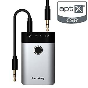 Lumsing® Trasmettitore e Ricevitore 2 in 1 Bluetooth Wireless - Adattatore CSR Bluetooth 3.0
