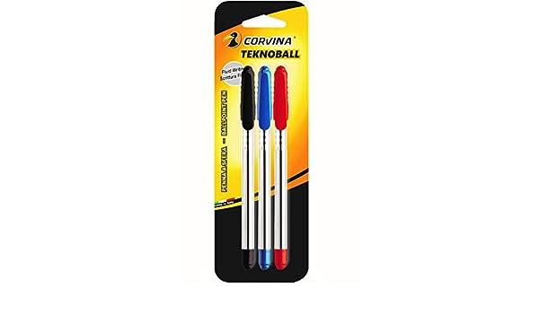 Multicolore corvina teknoball/ /Confezione da 3/penne A Sfera