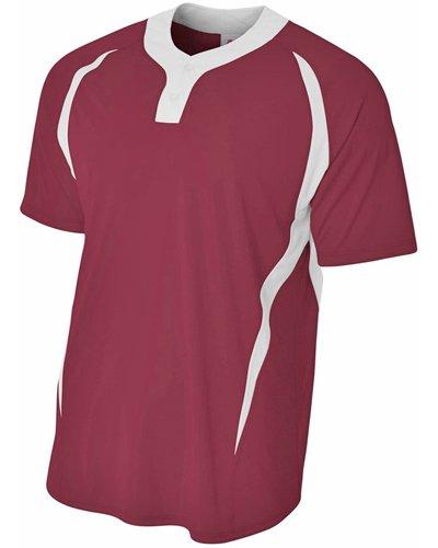 A4Jungen nb4229nb4229-crw 2Tasten Color Block Henley Sportswear, Cardinal/Weiß, L (2-taste - Henley)