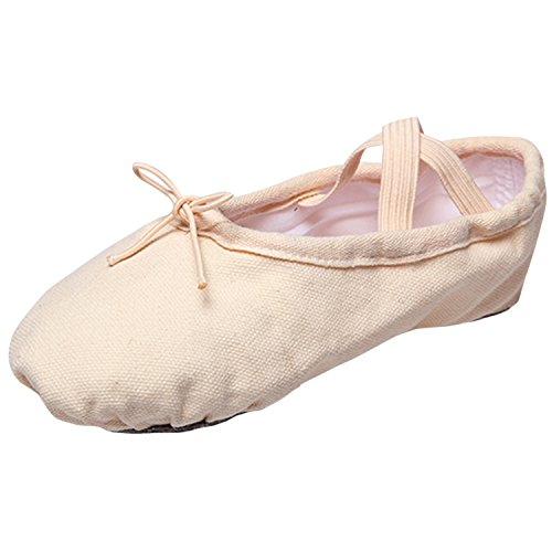 Oasap Women's Canvas Slip-on Flat Ballet Shoes White