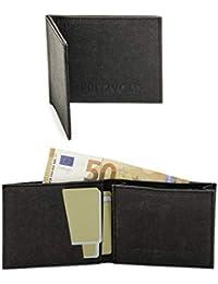 FRITZVOLD MINIMAL Wallet, kleines, dünnes Portemonnaie für Damen & Herren, extrem Flacher Geldbeutel, Slim Portmonee, Geldbörse aus waschbarem Papier-Kunstleder, mit RFID-Schutz & Münzfach