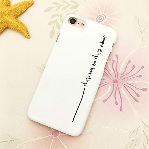 Matte Telefon Kasten Für iPhone 5 5S Se 6 6S 6Plus 7 7Plus 8 8Plus X Nette Wörter Kopierte Plastikabdeckung Für iPhone 7 Fall, 10, Für iPhone 6Plus ()