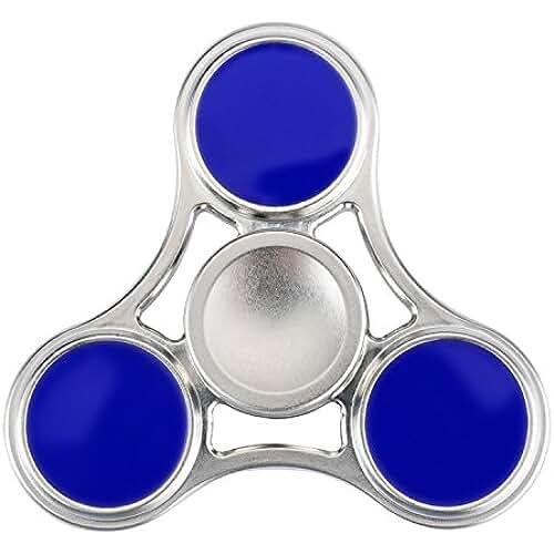 fidget spinner el nuevo juguete de moda SPARIN Tri Spinner Fidget Juguete [Reducido Presión] [Girado Alta Velocidad y Silenciosa] [Teniendo Cerámica] Juguete para Niños o Adultos, Fidget Spinner de Dedo Azul