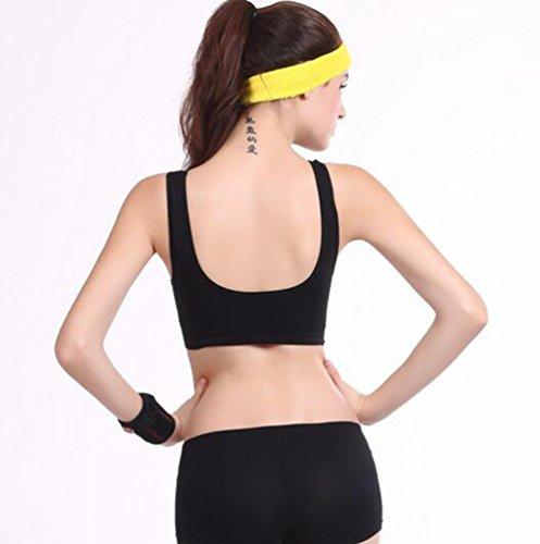 WanYang Donne Traspirante Reggiseno Sportivo Yoga Jogging Gilet Athletic Vest Palestra Fitness Tops Nero