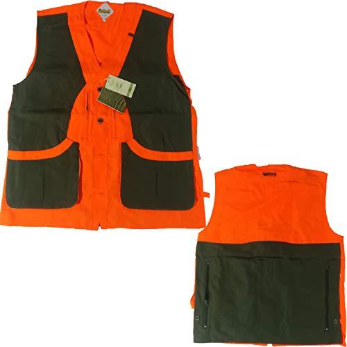 FRATELLIDITALIA Gilet smanicato alta visibilita arancio caccia cinghiale sicurezza imbottito Taglia XL