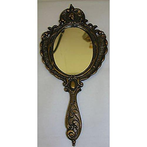 Espejo mano Latón maquillarse tocador Espejo de maquillaje para Antiguo