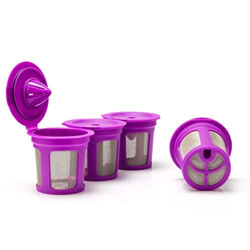 bulerty nachfüllbare Kaffee Filter Tasse wiederverwendbare Kaffee-Pod gefüllt Ekapsel kompatibel mit Keurig 2.0 1.0 K Tasse Kaffeemaschinen - Kaffee-tassen Wiederverwendbar Keurig