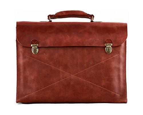 LE LUNDI porte-documents en cuir souple attaché case...