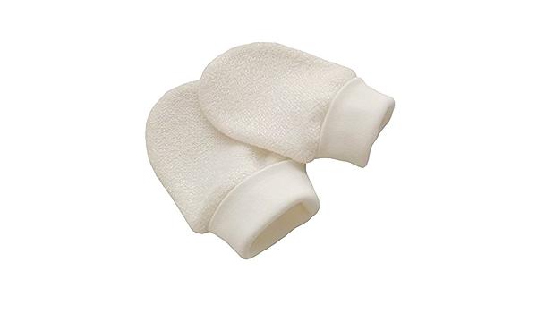 Bio Baumwolle Neugeborene Baby Anti Kratz F/äustlinge Handschuhe Farbe Elfenbeinfarben