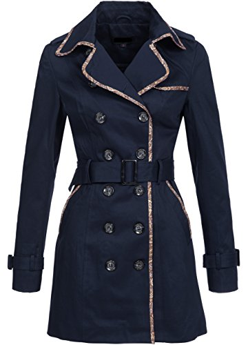 Peak Time Damen Trenchcoat F0005D Navy, Gr. M