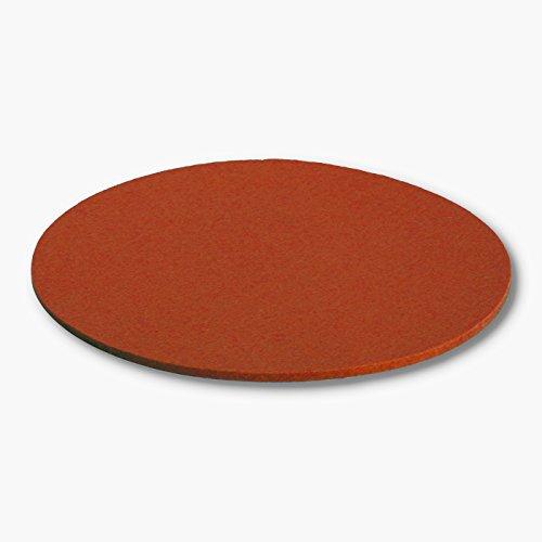 filzbrand sottobicchieri in feltro di lana di qualità, Rotonda, Diametro 25cm, spessore 5mm, Coral, 25 cm dia, 5 mm