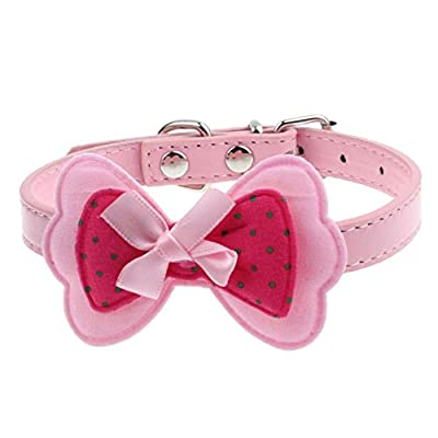 Tonsee® New Double Bowknot Adjustable Pet Collars Cat Dog Puppy Pet Collars