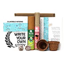 bioQ Mini Planting Stationery Combo Birthday Gift kit for Kids | Eco Friendly Kit with 2 Mini Planting Sets | Combo : 2 Plantable Notepad (A5 Size), 5 Seed Pencils & 5 Seed Colouring Eco Pens