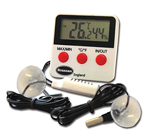 Reptile Tank Thermometer Digital Max Min and Hygrometer With Remote Probes - Ideal for Reptile Tanks, Terrariums, Vivariums, Brooders, and Incubators Test