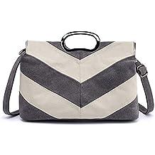 a0667be6b25ba Sumferkyh Umhängetasche Frauen Leinwand Umhängetasche Tägliche Geldbörse  Top Griff Einkaufstasche Lässige Shopping Handtasche Laptoptaschen