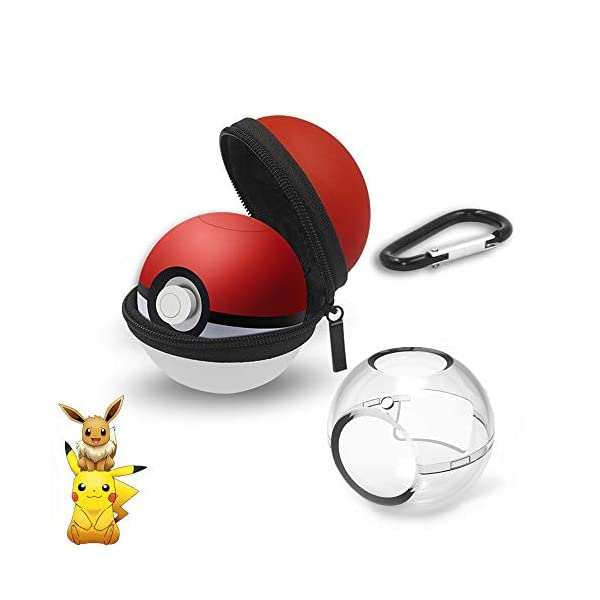 (New Upgrade)Portable Pokeball Plus Case -Protective Carrying Case for Nintendo Switch Poke Ball Plus Controller -Pokemon Ball Case Pokeball Carrying Case Bag for Nitendo Switch Accessories Pokeball 41tcVy8 oFL