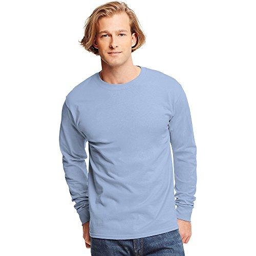 Hanes Tagless Long-Sleeve T-Shirt Light Blue
