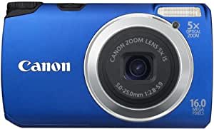 "Canon  PowerShot A3300 IS Appareil Photo Numérique 16 Mpix Mode ""Smart Auto"" Bleu"