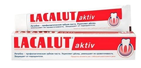 TOP PRODUCT !!! Lacalut Toothpaste Aktiv 2 x 75ml