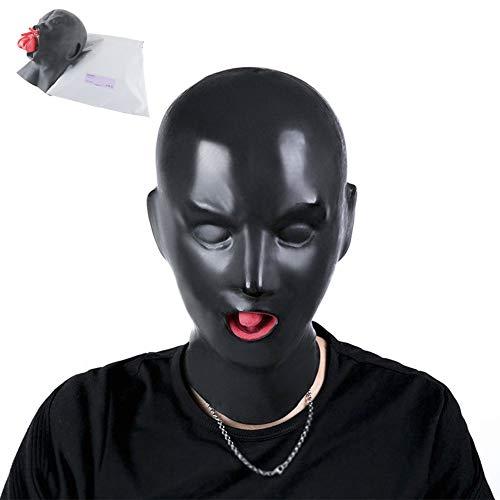 Hipipro Latex Kopfmaske Erwachsene Gefälschte Maske Gesichtsmaske Vollmaske mit Knebel und Nase Stecker