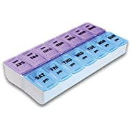 Pill Box 7 Day Pill Box Pill Organizer 14 Compartment Weekly Pill Box