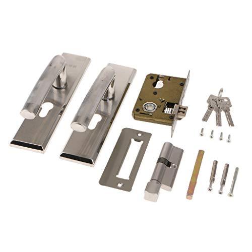 Fenteer Mechanisches Türbeschlag Türschloss Sicherheitsschloss für Haustür Zimmer