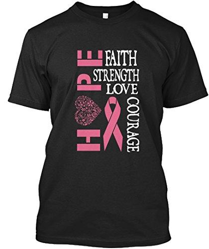 Stylisches T-Shirt Damen / Herren / Unisex von Teespring   Originelles Outfit für jeden Anlass und lustige Geschenksidee - Breast Cancer Awareness ! (Breast Awareness Kleidung Cancer)