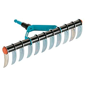 Gardena 3391-20 Combisystem Aerator Rake, Silver/Blue/Black/Orange, Working Width 35 cm