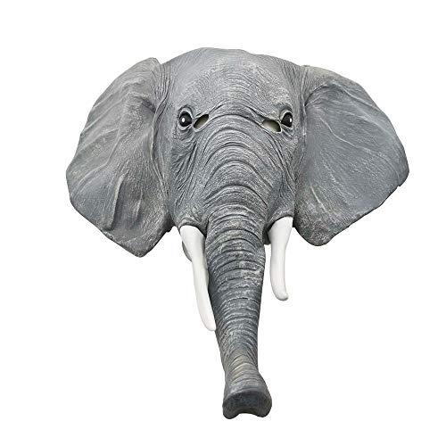 QAZXS Halloween Elefante Elefante asiático Mascara Animal Mascara de Elefante Peluca Parodia